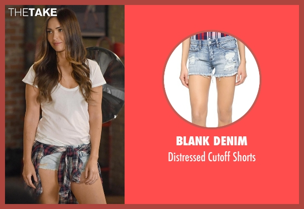 Blank Denim blue shorts from New Girl seen with Reagan (Megan Fox)