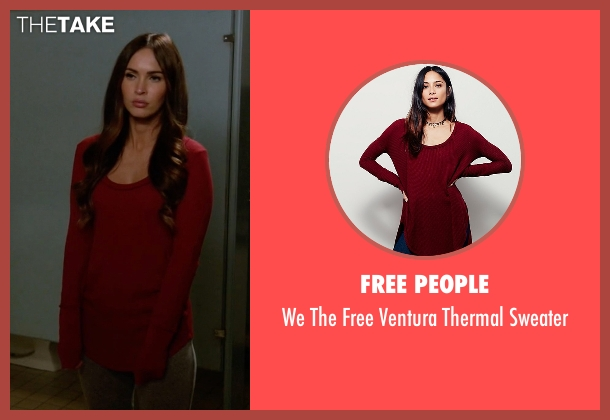 Free People red sweater from New Girl seen with Reagan (Megan Fox)