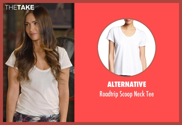 Alternative white tee from New Girl seen with Reagan (Megan Fox)