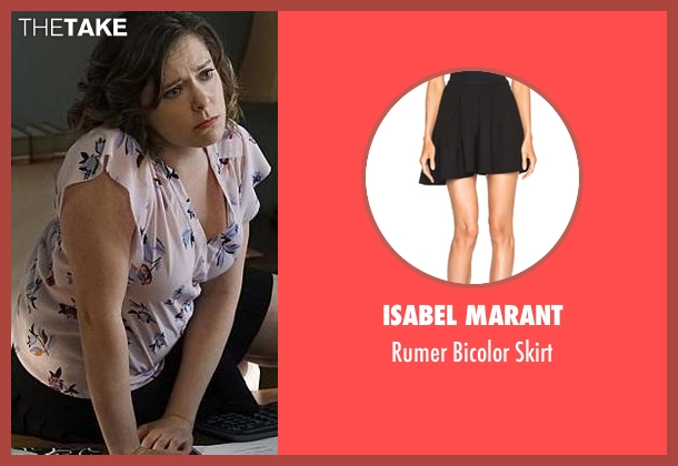 Isabel Marant black skirt from Crazy Ex-Girlfriend seen with Rebecca Bunch (Rachel Bloom)