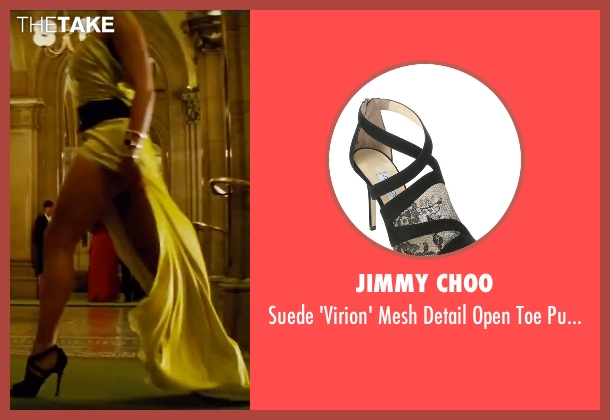 Christian Louboutin black pumps from Mission: Impossible - Rogue Nation seen with Rebecca Ferguson (Ilsa Faust)