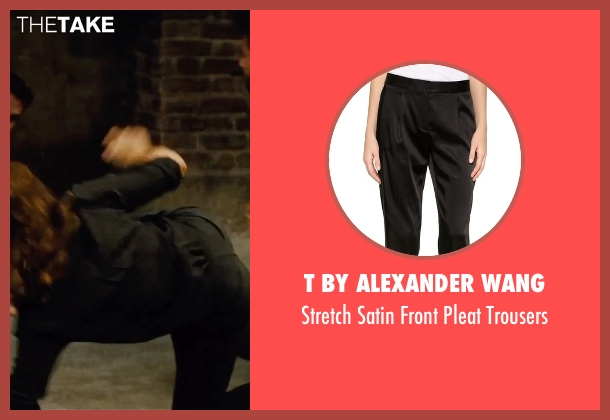 T By Alexander Wang black trousers from Mission: Impossible - Rogue Nation seen with Rebecca Ferguson (Ilsa Faust)