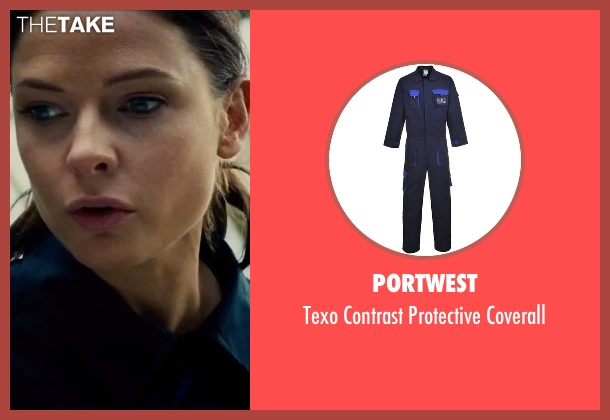 Portwest blue coverall from Mission: Impossible - Rogue Nation seen with Rebecca Ferguson (Ilsa Faust)