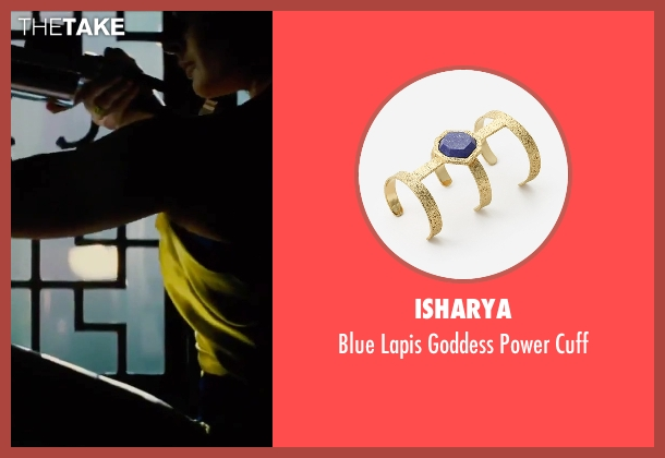 Isharya gold cuff from Mission: Impossible - Rogue Nation seen with Rebecca Ferguson (Ilsa Faust)