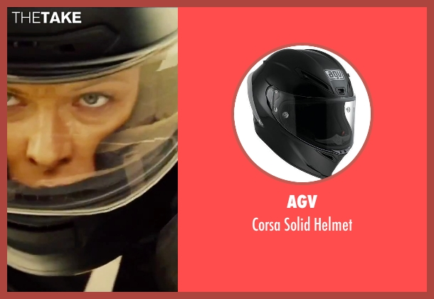 AGV helmet from Mission: Impossible - Rogue Nation seen with Rebecca Ferguson (Ilsa Faust)