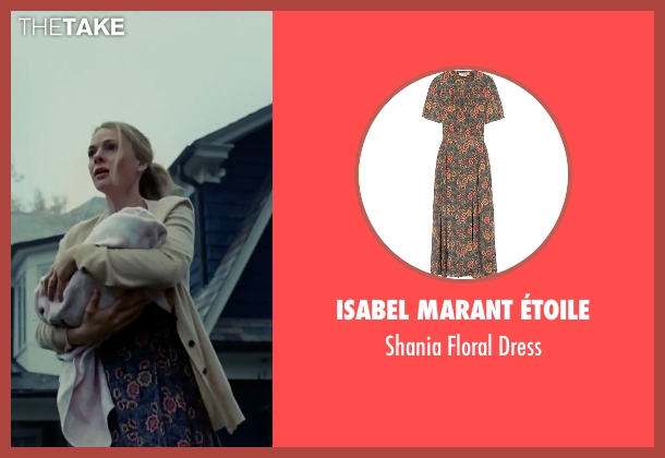 Isabel Marant Étoile blue dress from The Girl on the Train seen with Rebecca Ferguson (Anna)