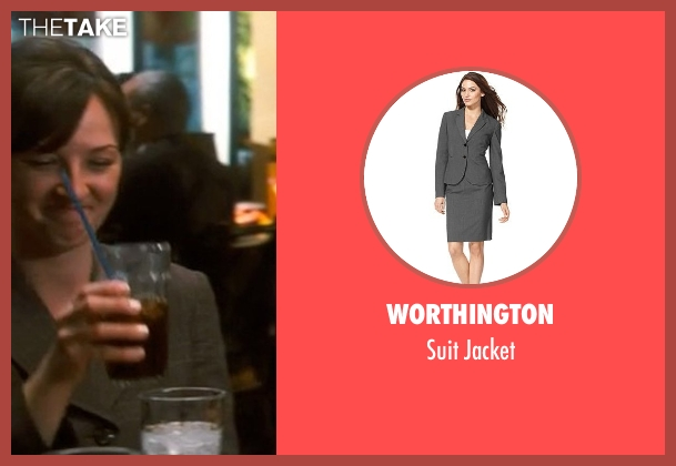 Worthington gray jacket from Crazy, Stupid, Love. seen with Rebecca Flinn (Hannah's Colleague #2)