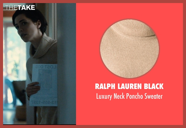 Ralph Lauren Black beige sweater from The Gift seen with Rebecca Hall (Robyn)