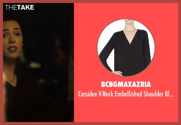 BCBGMAXAZRIA black blouse from The Gift seen with Rebecca Hall (Robyn)