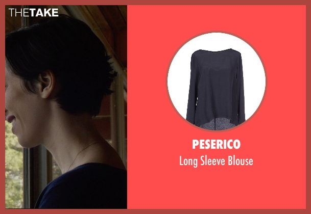 Peserico blue blouse from The Gift seen with Rebecca Hall (Robyn)