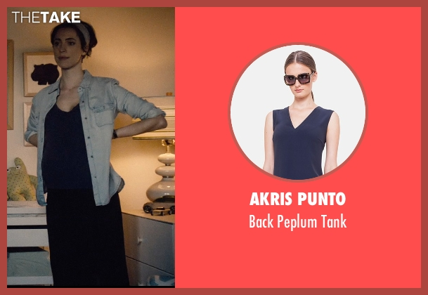 Akris Punto blue tank from The Gift seen with Rebecca Hall (Robyn)