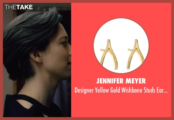 Jennifer Meyer gold earrings from The Gift seen with Rebecca Hall (Robyn)