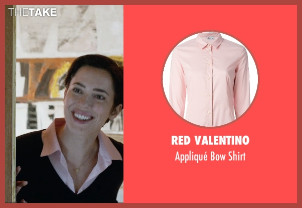Red Valentino pink shirt from The Gift seen with Rebecca Hall (Robyn)