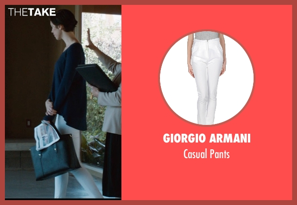 Giorgio Armani white pants from The Gift seen with Rebecca Hall (Robyn)