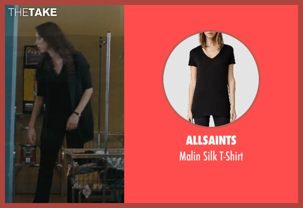 Allsaints black t-shirt from The Town seen with Rebecca Hall (Claire Keesey)