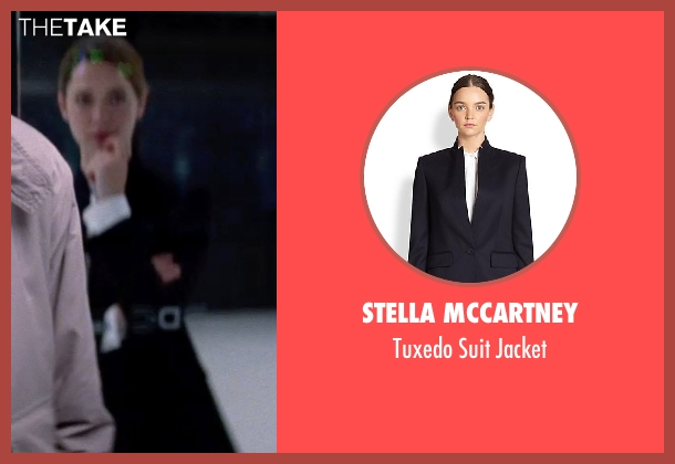 Stella McCartney black jacket from Transcendence seen with Rebecca Hall (Evelyn Caster)