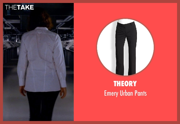 Theory black pants from Transcendence seen with Rebecca Hall (Evelyn Caster)