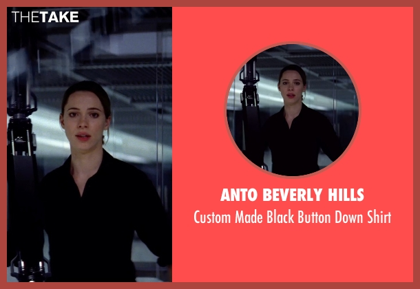 Anto Beverly Hills black shirt from Transcendence seen with Rebecca Hall (Evelyn Caster)