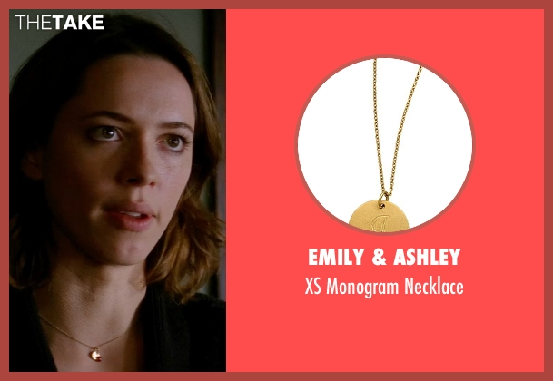 Emily & Ashley gold necklace from Transcendence seen with Rebecca Hall (Evelyn Caster)