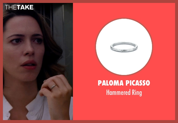 PALOMA PICASSO silver ring from Transcendence seen with Rebecca Hall (Evelyn Caster)
