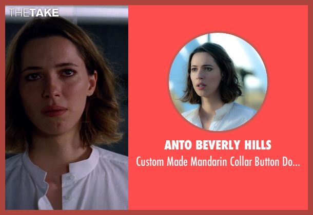 Anto Beverly Hills white shirt from Transcendence seen with Rebecca Hall (Evelyn Caster)