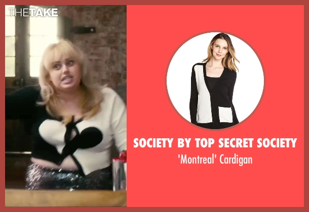 Society By Top Secret Society black cardigan from How To Be Single seen with Rebel Wilson (Robin)