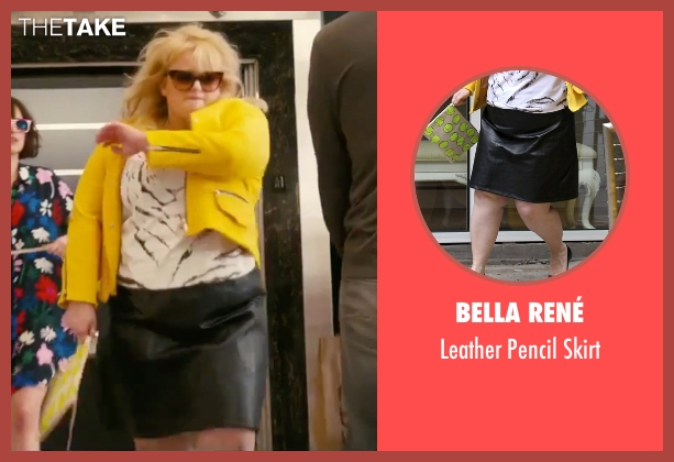 Bella René black skirt from How To Be Single seen with Rebel Wilson (Robin)