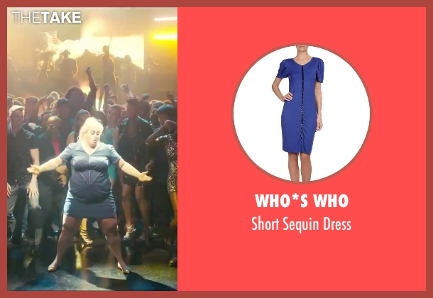 Who*s Who blue dress from How To Be Single seen with Rebel Wilson (Robin)