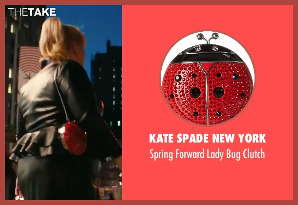 Kate Spade New York red clutch from How To Be Single seen with Rebel Wilson (Robin)