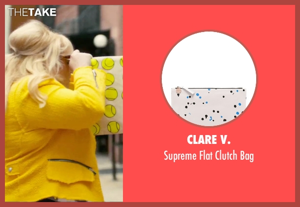 Clare V. white bag from How To Be Single seen with Rebel Wilson (Robin)