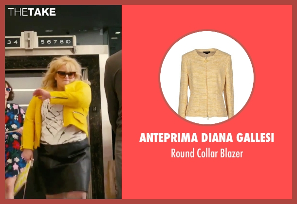Anteprima Diana Gallesi yellow blazer from How To Be Single seen with Rebel Wilson (Robin)
