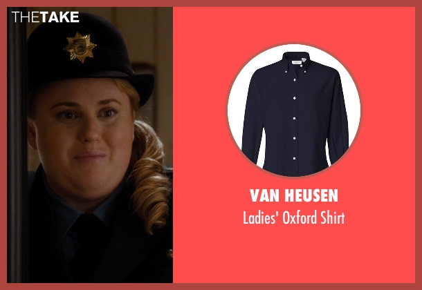 Van Heusen blue shirt from Night at the Museum: Secret of the Tomb seen with Rebel Wilson (Tilly)