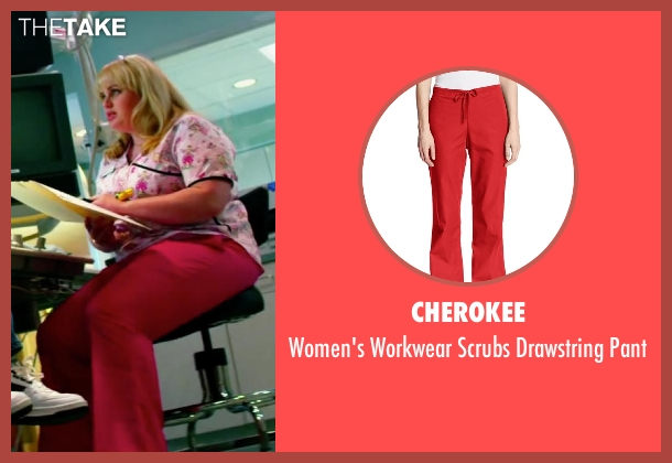 Cherokee red pant from Pain & Gain seen with Rebel Wilson (Robin Peck)