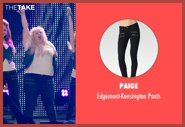 Paige black pants from Pitch Perfect 2 seen with Rebel Wilson (Fat Amy)