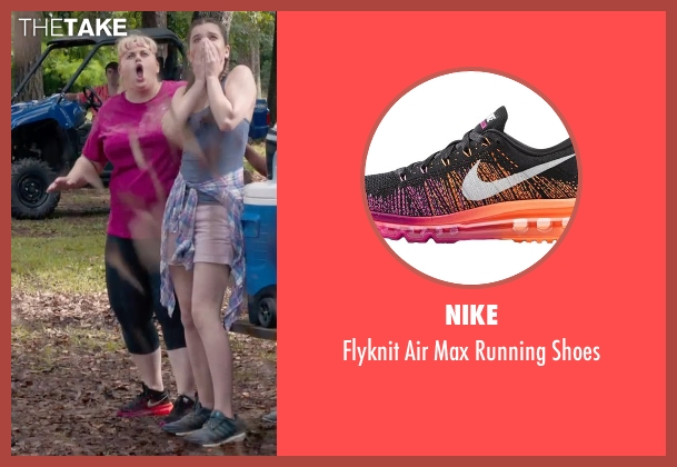 Nike black shoes from Pitch Perfect 2 seen with Rebel Wilson (Fat Amy)