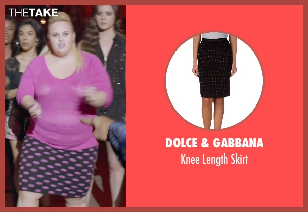 Dolce & Gabbana black skirt from Pitch Perfect 2 seen with Rebel Wilson (Fat Amy)