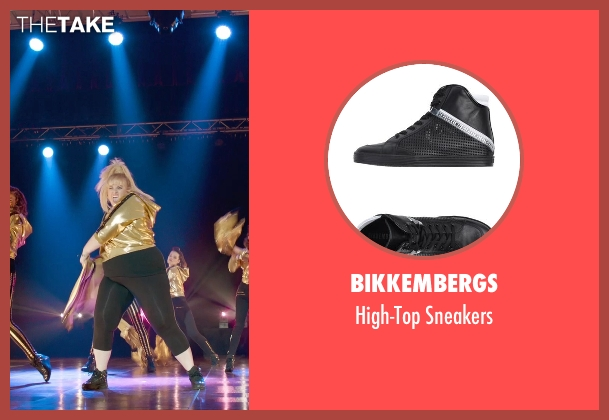 Bikkembergs black sneakers from Pitch Perfect 2 seen with Rebel Wilson (Fat Amy)