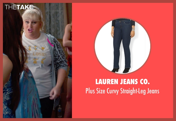 Lauren Jeans Co. blue jeans from Pitch Perfect 2 seen with Rebel Wilson (Fat Amy)