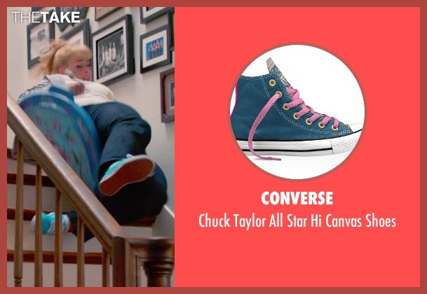 Converse blue shoes from Pitch Perfect 2 seen with Rebel Wilson (Fat Amy)