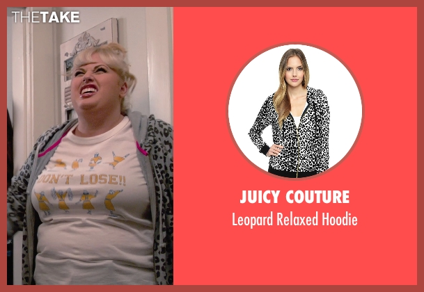 Juicy Couture gray hoodie from Pitch Perfect 2 seen with Rebel Wilson (Fat Amy)