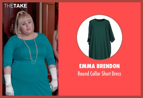 Emma Brendon green dress from Pitch Perfect 2 seen with Rebel Wilson (Fat Amy)