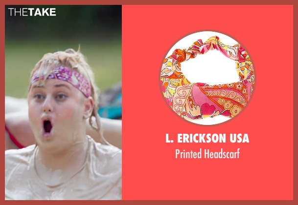L. Erickson USA headscarf from Pitch Perfect 2 seen with Rebel Wilson (Fat Amy)