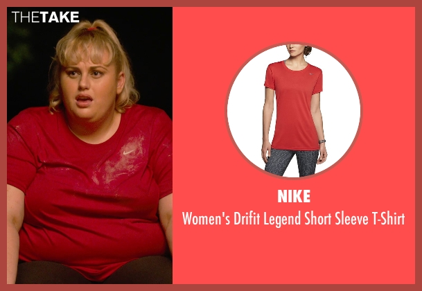 Nike pink t-shirt from Pitch Perfect 2 seen with Rebel Wilson (Fat Amy)