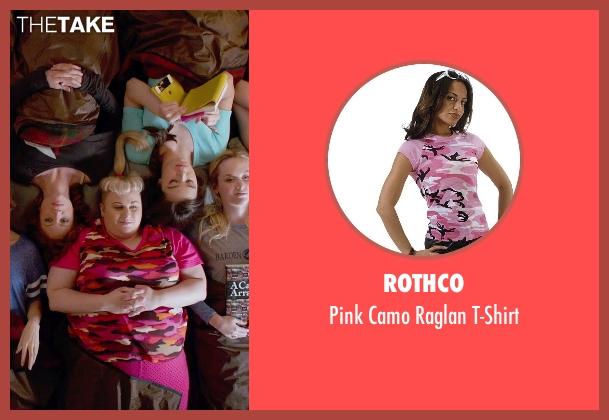 Rothco pink t-shirt from Pitch Perfect 2 seen with Rebel Wilson (Fat Amy)