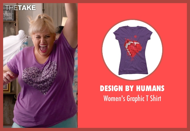 Design By Humans purple shirt from Pitch Perfect 2 seen with Rebel Wilson (Fat Amy)