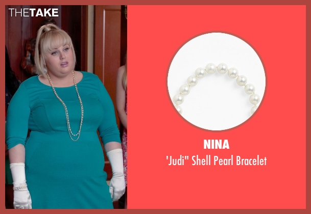 Nina white bracelet from Pitch Perfect 2 seen with Rebel Wilson (Fat Amy)