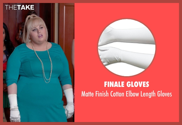 Finale Gloves white gloves from Pitch Perfect 2 seen with Rebel Wilson (Fat Amy)