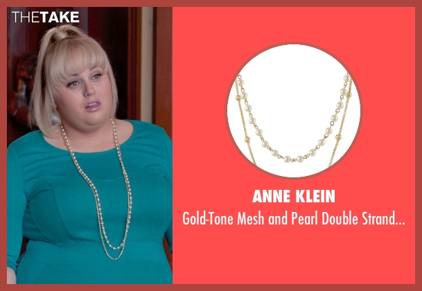 Anne Klein white necklace from Pitch Perfect 2 seen with Rebel Wilson (Fat Amy)