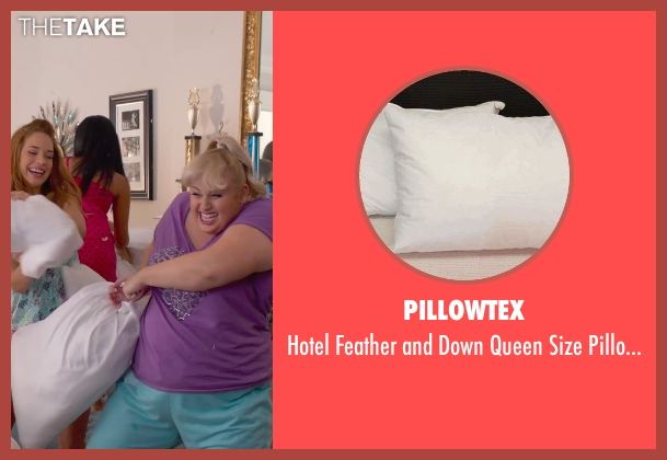 Pillowtex white set from Pitch Perfect 2 seen with Rebel Wilson (Fat Amy)