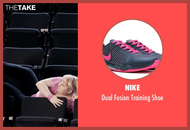 Nike pink shoe from Pitch Perfect seen with Rebel Wilson (Fat Amy)